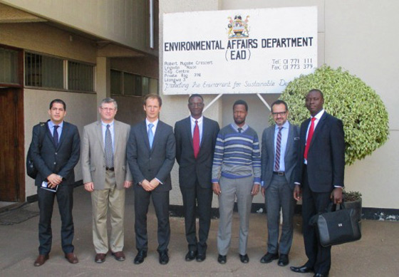 Photo of Meeting at the Environmental Affairs Department, during the visit of the 1540 Committee to Malawi, at the invitation of its Government, 8 August 2014.