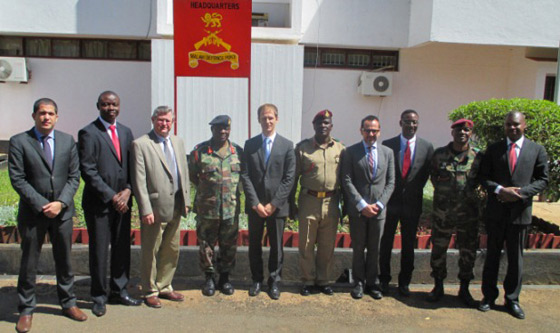 Meeting with the Malawi Defence Force Commander, General I.E.J Maulana, during the visit of the 1540 Committee to Malawi, at the invitation of its Government, 8 August 2014.