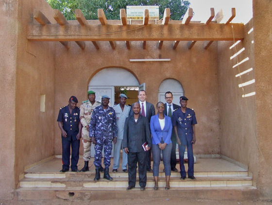 Photo of visit to the customs office in Torodi on 15 January 2014, as part of the visit to Niger by the 1540 Committee at the invitation of the Government of Niger.