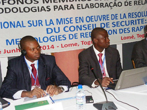 Photo of Participants at Workshop for the implementation of Security Council Resolution 1540 (2004) for Portuguese-speaking UN Member States, 5-6 June 2014, Lomé, Togo.