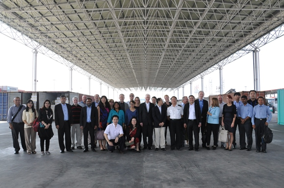 Participants at the Training for the 1540 Points of Contact in the Asia and Pacific Region, hosted by the Government of China, Qingdao, 7-11 September 2015, visited the Container Port of Qingdao on 9 September 2015.