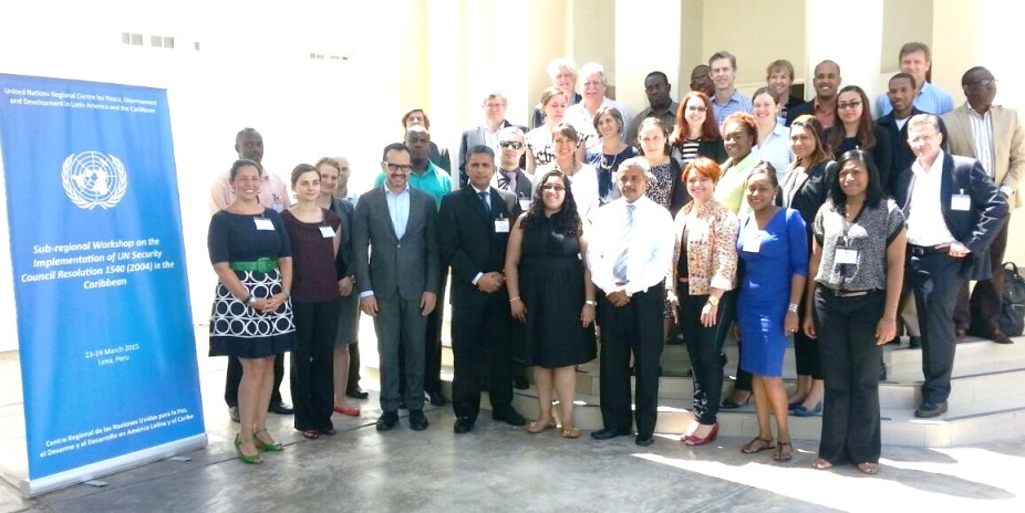 Regional Workshop on the implementation of UN Security Council resolution 1540 (2004) in the Caribbean, organized by UNLIREC, Lima, Peru, 23-24 March 2015.