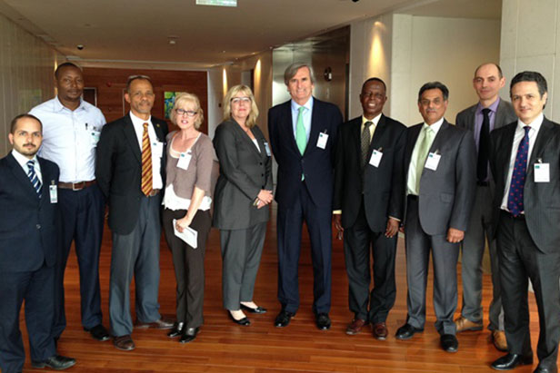 AU Review and Assistance Conference, 6-7 April 2016, Addis Ababa, Ethiopia: Meeting by the Chair of the 1540 Committee and Committee members with the African Bio-safety Association (AfBSA), African Bio-safety Network of Expertise (ABNE/NEPAD), Global Emerging Pathogens Treatment Consortium (GET), International Federation of Biosafety Associations (IFBA), International Centre for Genetic Engineering and Biotechnology (ICGEB), University of Cape Town component, and the Chemical and Allied Industries' Association of South Africa (CAIA).