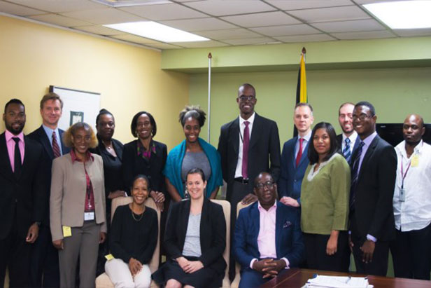 Participants of the workshop to assist in the development of legislation to implement UN Security Council Resolution 1540, the Chemical Weapons Convention, Biological Weapons Convention and strategic trade controls, organized by the Government of Jamaica in collaboration with VERTIC (Verification Research, Training and Information Centre), 6-8 April 2016, Kingston, Jamaica.