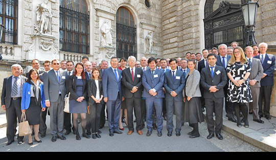 "Participants at the regional workshop for Central Asian States on UN Security Council Resolution 1540 ""Legal/Regulatory Requirements for Strategic Trade Controls"" that took place 18-20 May 2016, in Vienna, Austria. The workshop was organised by the Organization for Security and Co-operation in Europe (OSCE)."