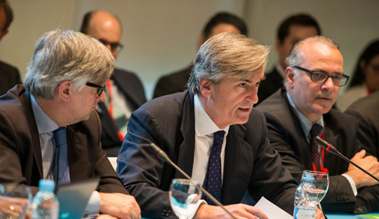 Ambassador Román Oyarzun Marchesi (centre), Chair of the 1540 Committee, presides over a Special Meeting of the 1540 Committee on the 2016 Comprehensive Review, held in Madrid on May 12 and 13.