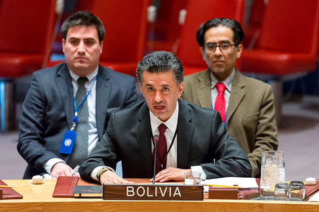 Ambassador Sacha Sergio Llorentty Solíz (Bolivia), Chair of 1540 Committee, delivered a briefing to the Security Council on 16 March 2017.