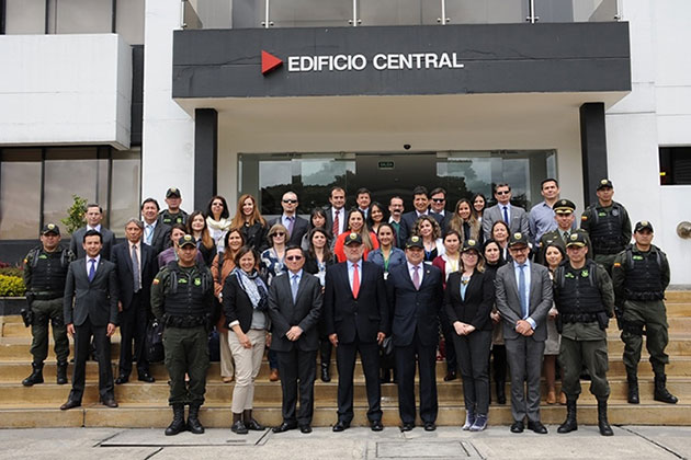 Participants in the first phase of the Colombia-Chile 1540 Peer Review, 4-6 October 2017, Bogota, Colombia.