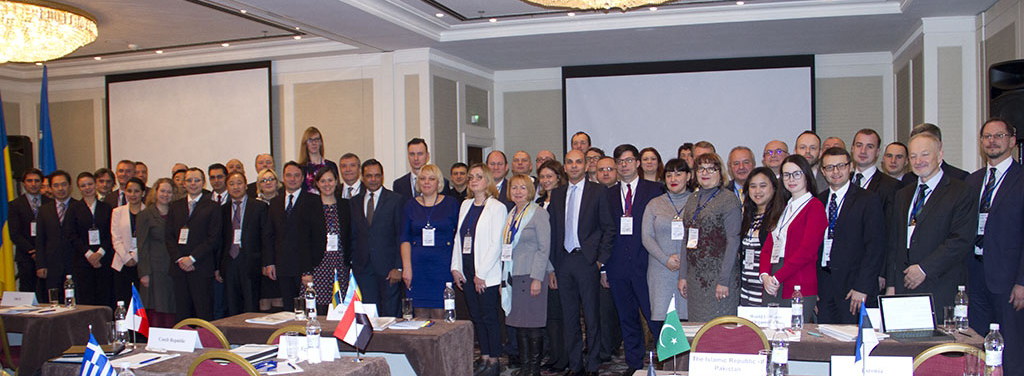 "Participants in the international Workshop ""Promoting the effective implementation of Resolution 1540 (2004) in the context of evolving proliferation risks and challenges"" which was hosted by Ukraine in Kyiv from 2 to 3 November 2017."