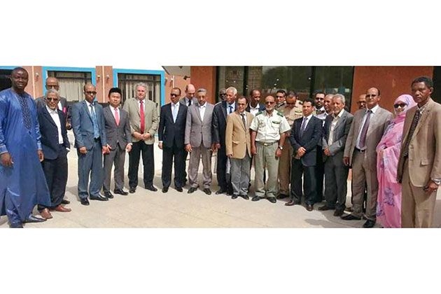 Group photo of visit to Mauritania