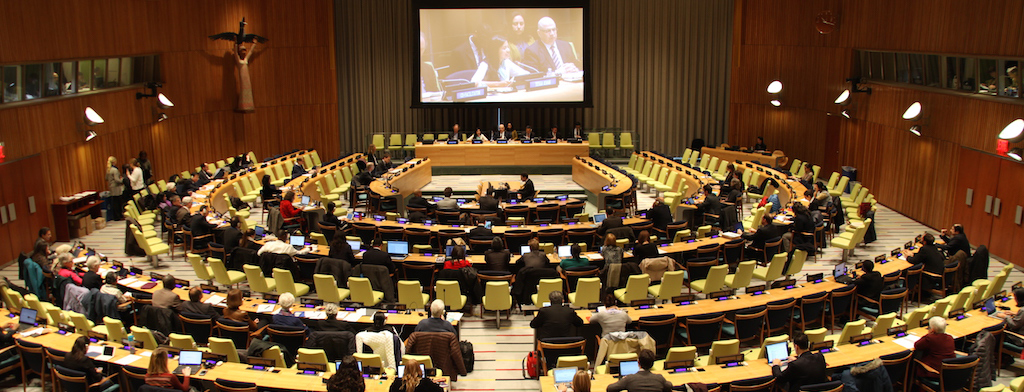 Image of Trusteeship Council chamber during preparatory process