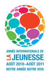 Logo officiel de l'Année internationale de la jeunesse