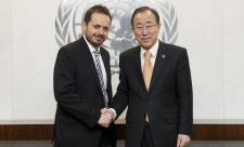 The Chairman of the ACABQ, Mr Carlos G. Ruiz Massieu, meets Secretary-General Ban Ki-moon (4  January 2013) ©UN PHOTO