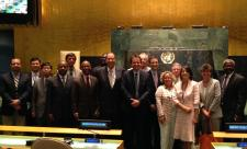 The Advisory Committee visits the newly renovated General Assembly Hall (12 Sep 2014)