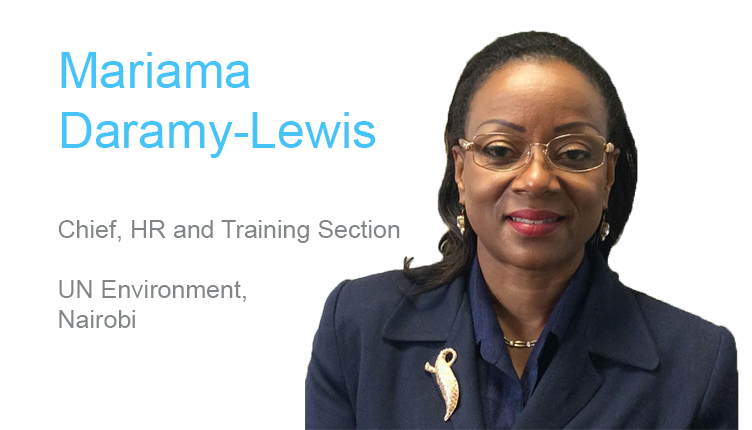 Mariama Daramy-Lewis, Senior Advisor Human resources and chief, HR and training section, UN Environment