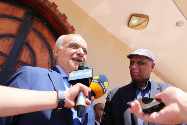 Ghassan Salamé, currently Special Representative of the Secretary-General and Head of the United Nations Support Mission in Libya, at a press interview in Al Gubya (Libya). Photo: United Nations Support Mission in Libya (UNSMIL)