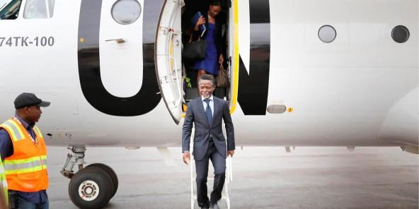 Parfait Onanga-Anyanga, currently Special Envoy for the Horn of Africa. In this photo, former Special Representative of the Secretary-General for the Central African Republic and Head of MINUSCA on arrival to Bangui. By UN Photo/Nektarios