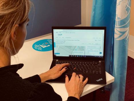 Person navigating a TPA website on their laptop