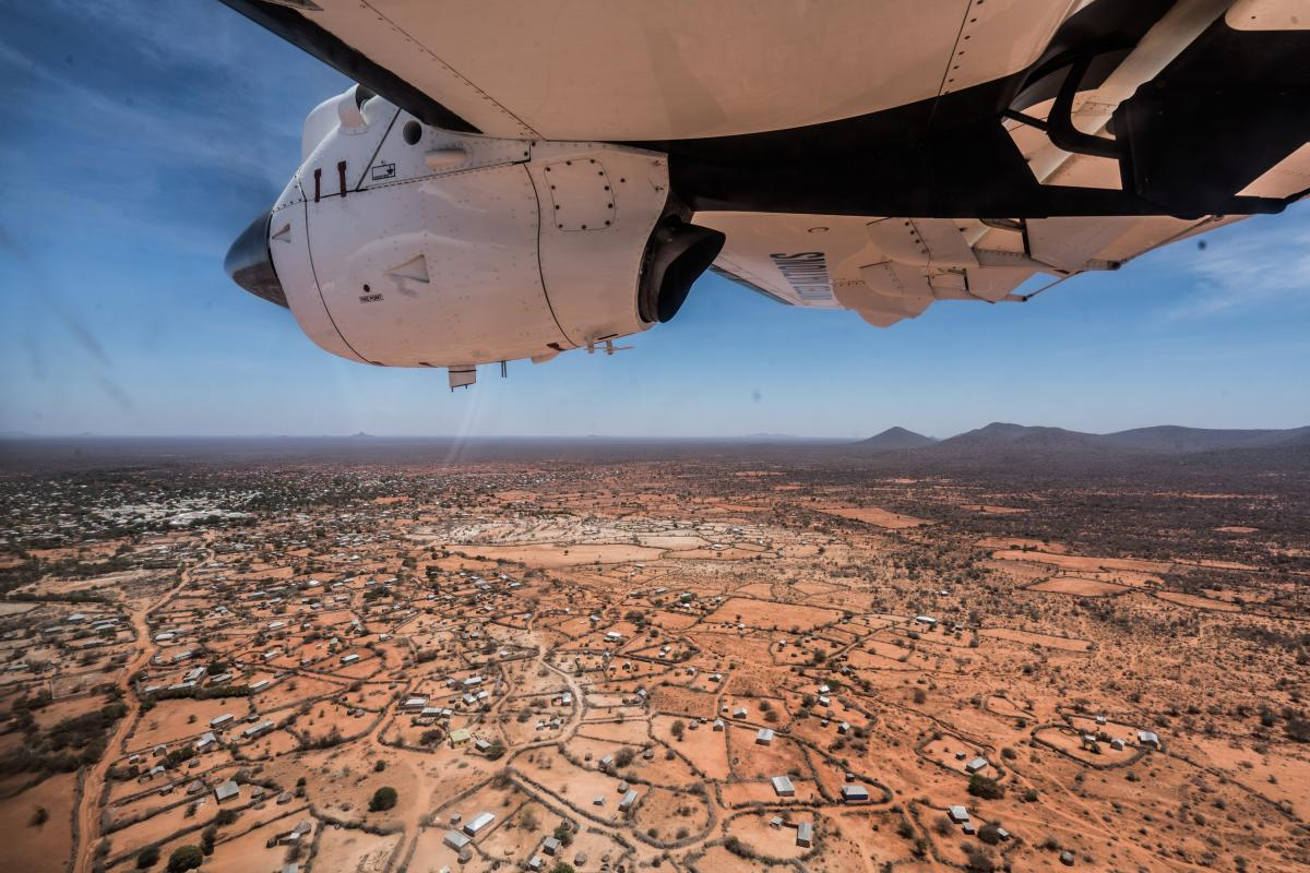 Somalia: View of dry land as seen from a plane.