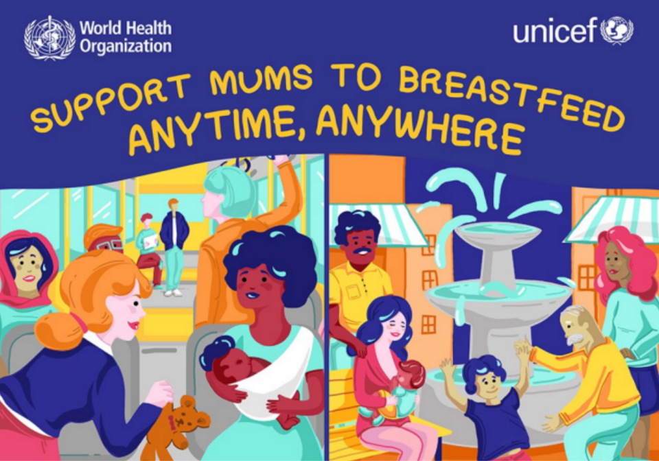 Front cover of an infographic on breastfeeding.