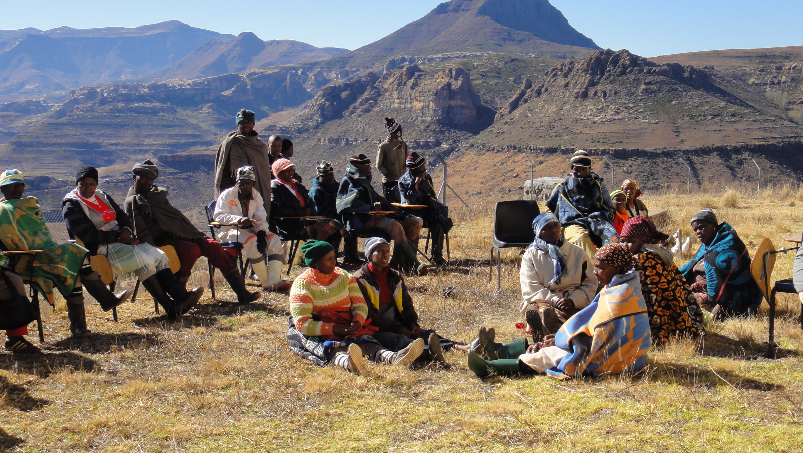 Communities participate in consultative workshops in Lesotho