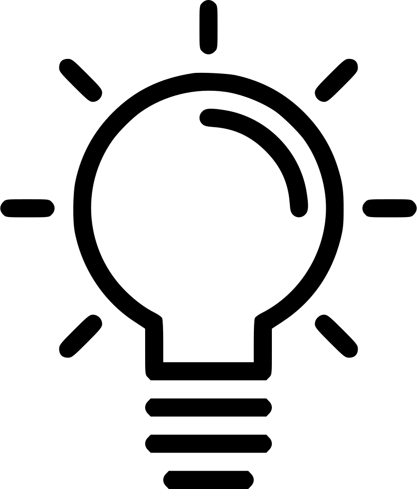 The icon of the lightbulb