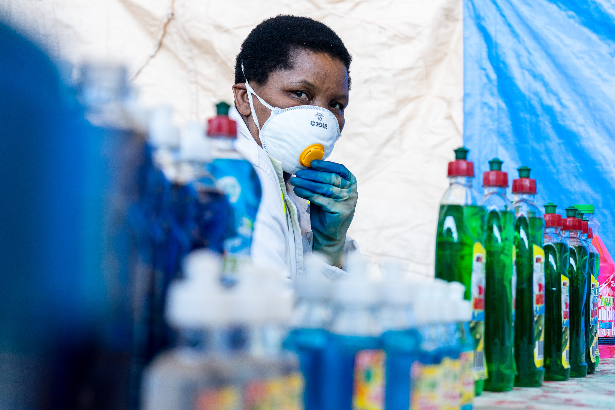 A Zimbabwean detergent company started making a hand sanitizer to protect against COVID-19.