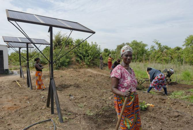 The solar energy skills project in Zambia.