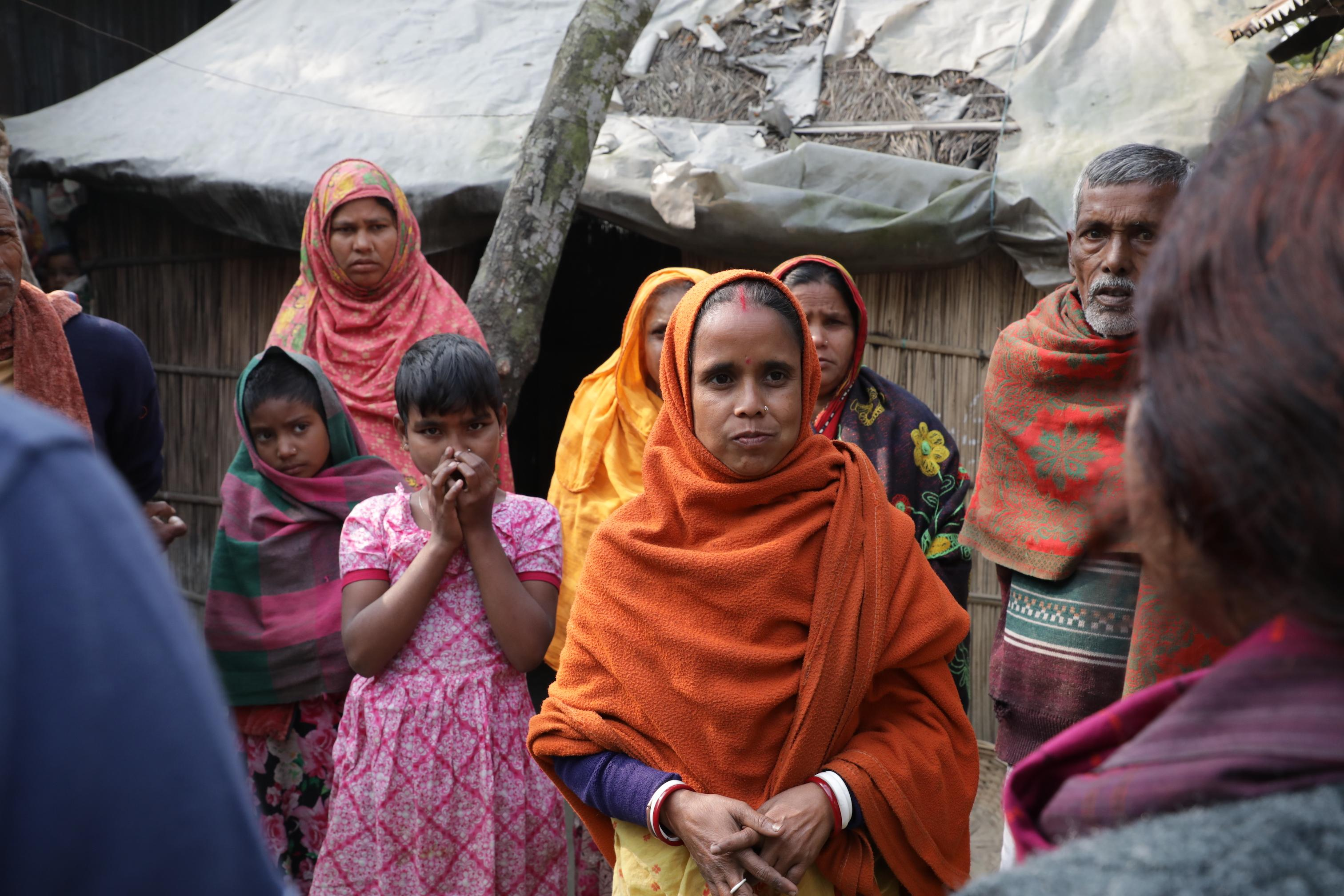 Communities affected by heavy monsoon rains that triggered a widespread flooding in Bangladesh.