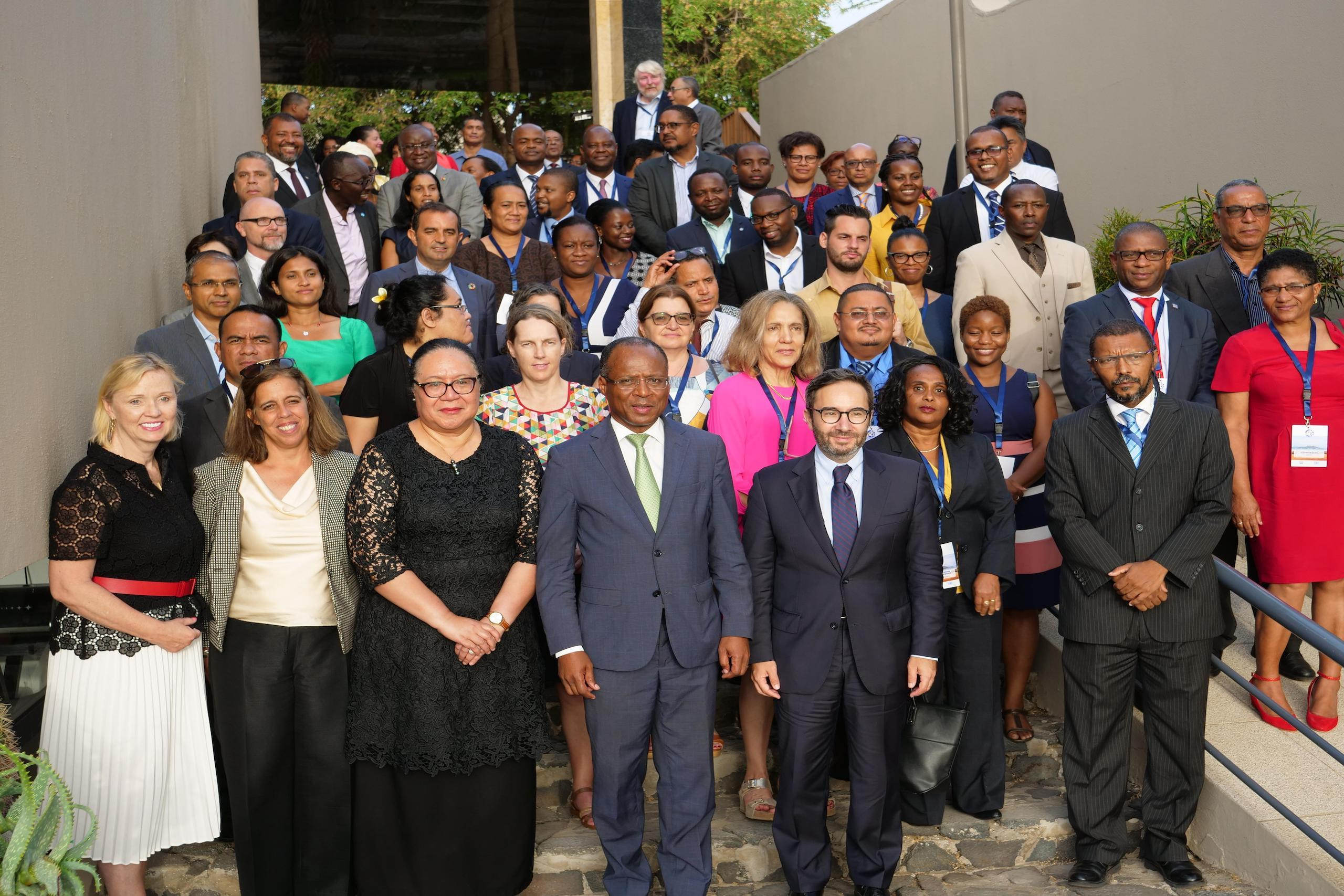 SIDS National Focal Points with USG Fekitamoeloa 'Utoikamanu and H.E. Ulisses Correia e Silva, PM of Cabo Verde