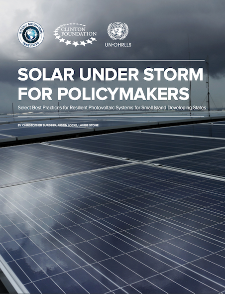 Solar Under Storm for Policymakers (2020) Report Cover