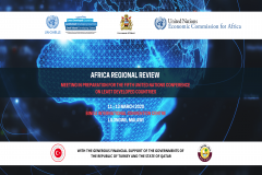 The banner for Africa Regional Review Meeting
