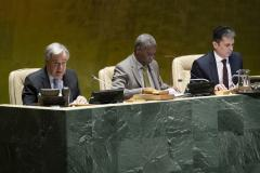 SG António Guterres makes remarks at the implementation of the VPoA for LLDCs