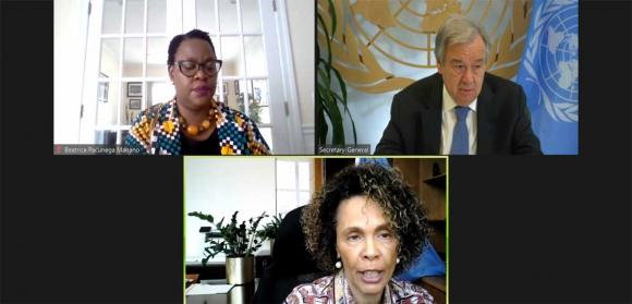 Africa Dialogue Series session on Zoom