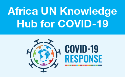 A banner for the Africa UN Knowledge Hub for COVID-19
