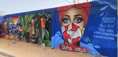 Graffiti by Senegalese artists