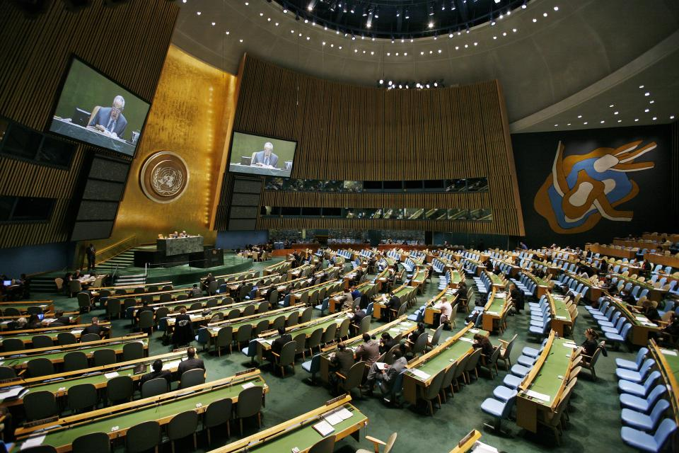 General Assembly Debates Peacebuilding Commission and Fund in November 2009. UN Photo/Sophia Paris