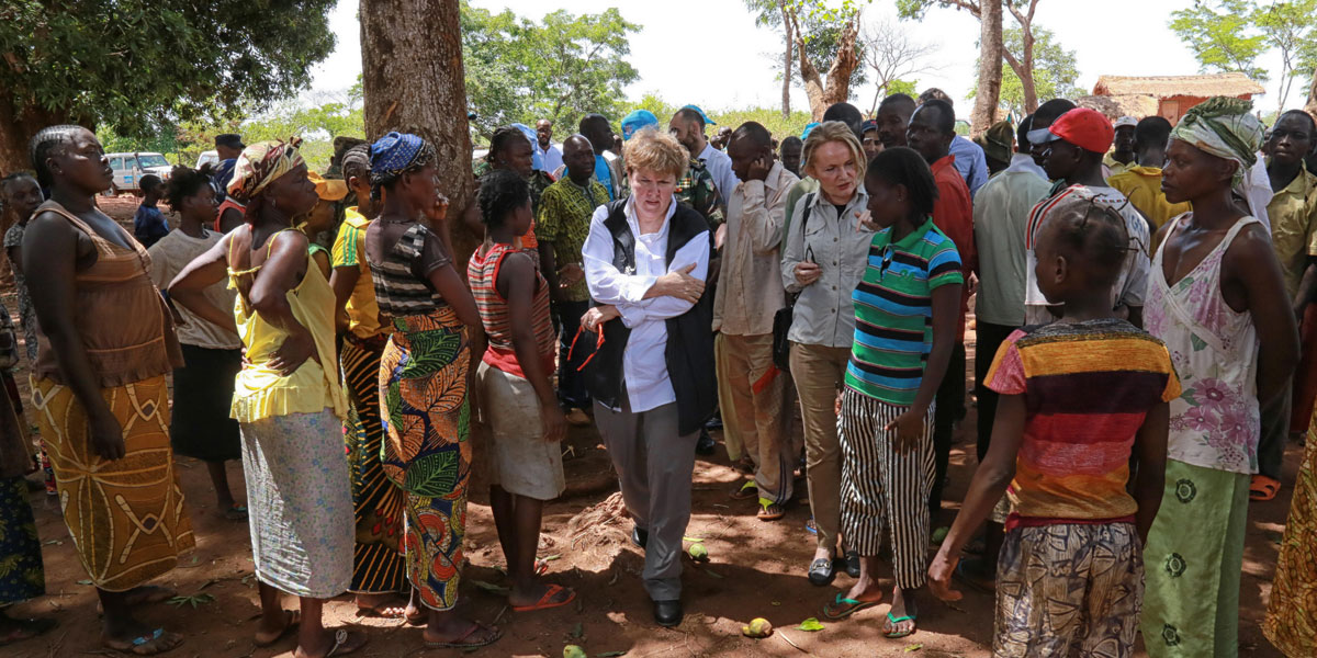 Jane Holl Lute, UN Special Coordinator on improving the UN response to sexual exploitation and abuse visits Central African Republic (CAR).