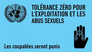 Zero tolerance for sexual explotation and abuse