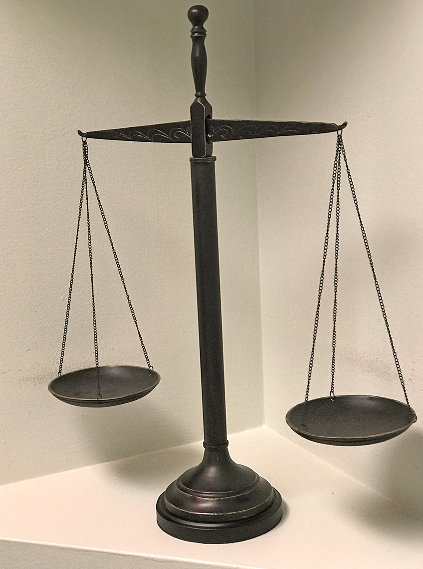 Photo of scales of justice