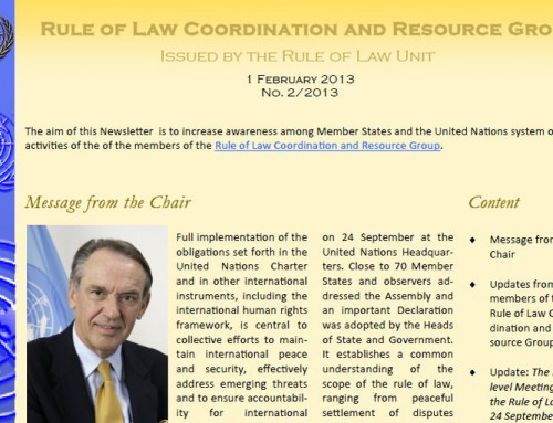 Rule of Law Coordination and Resource Group Newsletter — February 2013