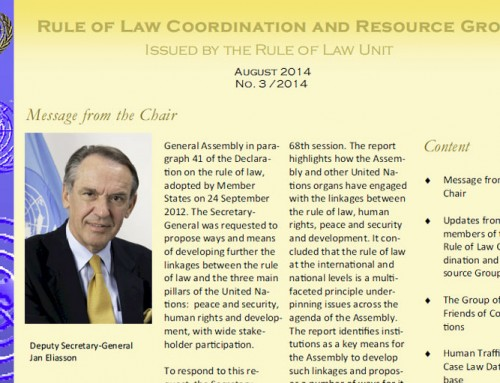 Rule of Law Coordination and Resource Group Newsletter — August 2014