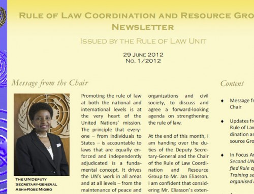 Rule of Law Coordination and Resource Group Newsletter – June 2012