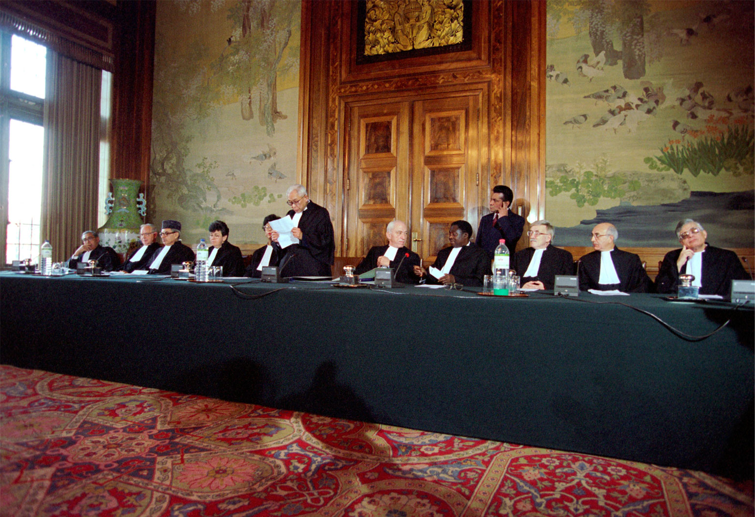 First Session of the International Tribunal on War Crimes in Former Yugoslavia in The Hague (1993).