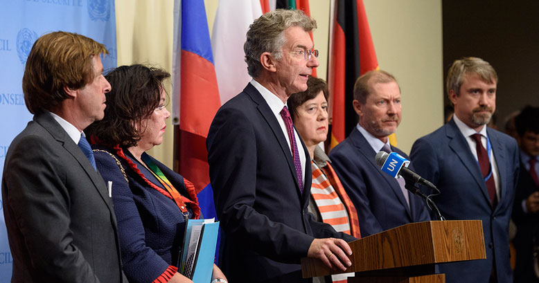 European Security Council Members Brief Media on Syria.