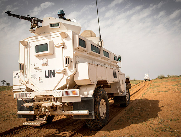 Peacekeepers from Senegal serving with the MINUSMA patrols sensitive areas in central Mali.