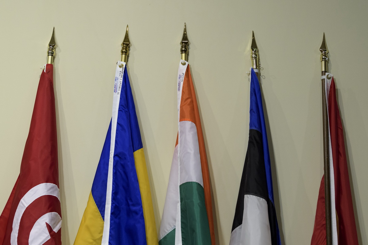 Flags of the five incoming members of Security Council for 2020-2021 (UN Photo/Manuel Elias)