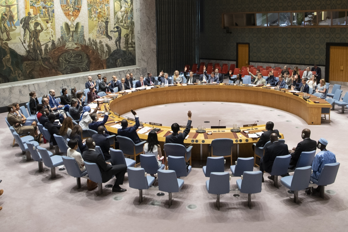 Security Council unanimously adopts resolution 2480 (2019) extending mandate of the United Nations Multidimensional Integrated Stabilization Mission in Mali (MINUSMA) to 30 June 2020 UN Photo/Eskinder Debebe