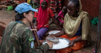 Commander Carla Monteiro de Castro Araujo, MINUSCA Gender Advocacy Officer, on field visit in Mbomou, Central African Republic.