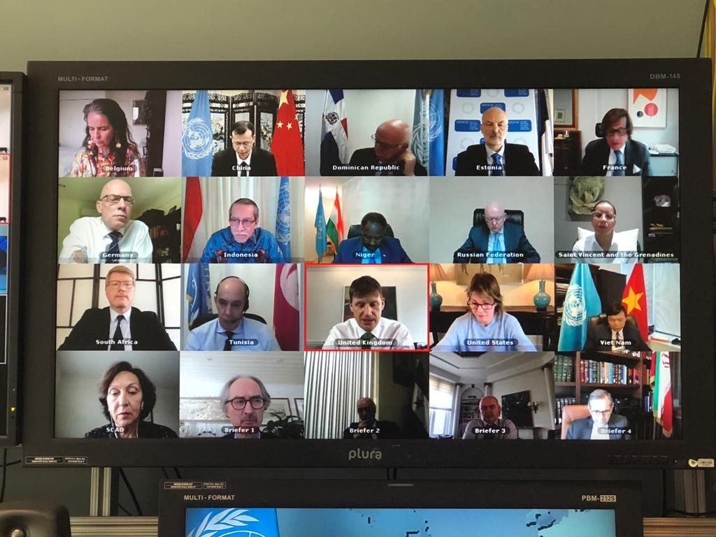 SC during the open video conference in connection with the Middle East (Syria). (18 May 2020)
